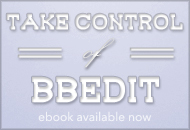 Take Control of BBEdit ebook available now