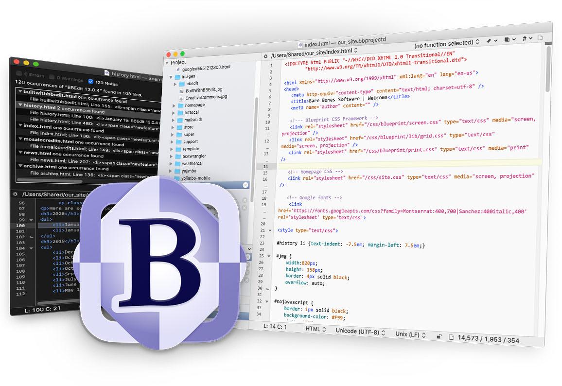 Bare Bones Software   BBEdit 20